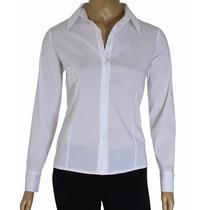 Kit 3 Camisete Camisa Social Feminina Tricoline