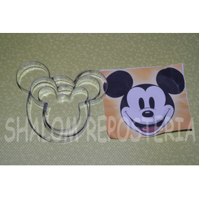 *kit 3 Cortadores Mickey Mouse Galleta Fondant Royal Icing*