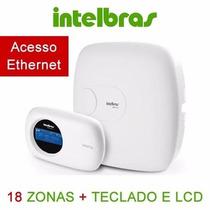 Central Alarme Intelbras Amt 2018e 18 Zonas Teclado Amt2018e