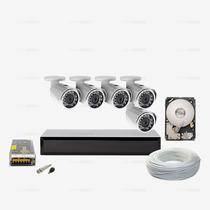 Kit Monitoramento 320gb Ahd 05 Câmera Infravermelho Ccd Sony