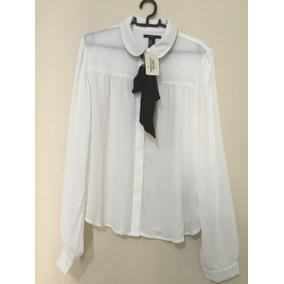 Camisa Feminina Branca Transparente Da Marca Forever 21 M