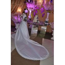 Vestido De Noiva C/ Todos Acessórios Tam 38