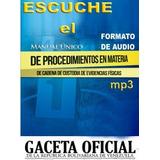 Escuche El Manual Único De Cadena De Custodia Evidencias