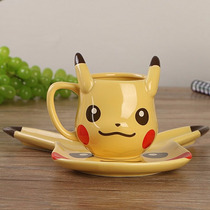 Pokemon Pikachu Taza Y Platito De Té De Cerámica