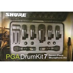 Kit Microfone Shure Mk7 Microfonar Bateria Drumkit Pga 52 56