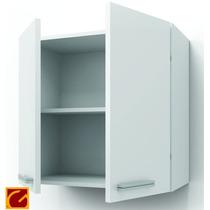Alacena 2 Puertas 60cm Canto Alum Itar Blanco/roble La Plata