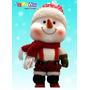 Muñeco De Nieve De Peluche 33 Cm Decoración Navidad