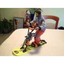Muñeco Action Man Con Moto De Nieve