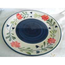Plato Porcelana Centro De Mesa Y Otros D: 26.5 Cm Artesanía
