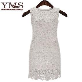 Vestido Blanco Con Detalles Transparentes Encaje Moda Japon