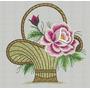 6 Matriz Bordados Computadorizados Cestas Com Flores Rosas
