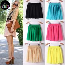 Faldas Tela Gasa Varios Colores Moda