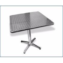 Mesa Cuadrada Aluminio Y Acero Inoxidable Para Restaurante