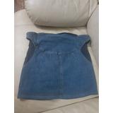 Falda Blue Jeans Embarazada Cintura Estirable Talla L Strech