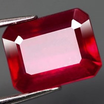 Espetacular Rubi Natural Vermelho Sangue 1,10 Cts.