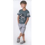 Trick Nick - Camiseta Infantil Meia Malha Com Estampa 100316
