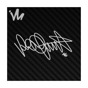 Adesivo Assinatura Valentino Rossi 46 Compre 2 Leve 3