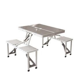 Mesa Camping Aluminio Plegable Maleta Viaje/ Tienda Perchero