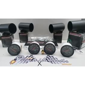 Kit Com 4 Relogios P/ Motor Diesel Cronomac Preto + Brindes