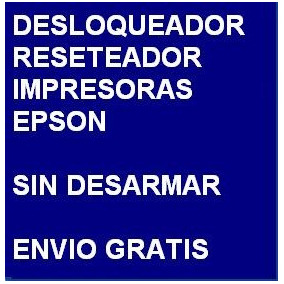 Desbloqueador Reset Impresora Epson Tx720wd Envio X Internet