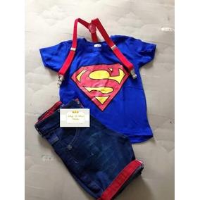Roupa Infantil Fantasia Super Homem Super Heroi Super Man