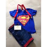 Conjunto Infantil Fantasia Super Homem Super Heroi Super Man