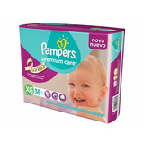 144 Pañales Pampers Premium Care Talle Xg