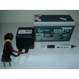 Bateria Selada 12v 10ah Ciclo Profundo E Carregador 12v 0,5a