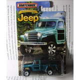 Jeep Camioneta Willys Coleccion Matchbox Escala 1/64 Ta *