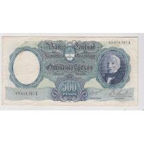 Billete Argentina 500 $ Mon Nac Bottero 2122 Muy Bueno