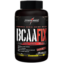 Bcaa Fix Darkness 120 Tablets Integralmédica + Brinde