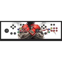 Controle Arcade Duplo Play 1 Play 2 Play 3 Pc Com Analógico