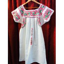 Vestido Mexicanos Bordado A Mano