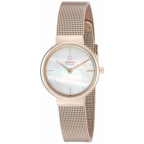 Reloj Obaku V153lxvwmv Oro Rosa Dama Original Envío Gratis**