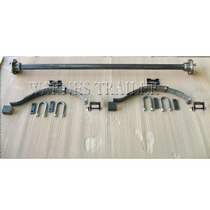 Kit 6 - Eje - Elástico 3 Hojas 50x7 Y Suspensión P/ Trailer