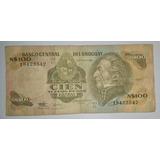 Billete Uruguay 100 Nuevos Pesos Moneda Nacional *027