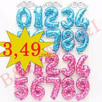 Letras E Números Balão Metalizado De 40cm Prata Ou Dourado