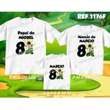 Lembrança De Aniversario Ben 10 Doki Kit Camisetas C/ 3