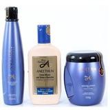 Kit Aneethun Linha A - Shampoo/creme De Silicone/mascara