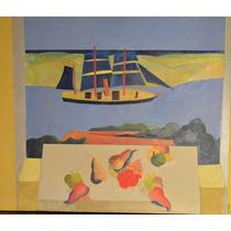 Alberto Ferrara Acrilico Sobre Madera 90 X 75 Abstracto