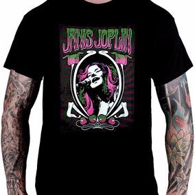 Camiseta Janis Joplin (preta)