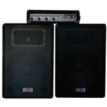 Equipo Bafles Y Cabezal Blg Rmx-4212 Con Usb Musica!