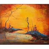 Cuadros Reproduccion Pinturas Arte Negras Africanas 15x20