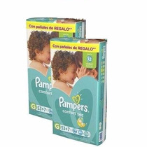 2 Superpack Familiar Pañales Pampers Confort Sec