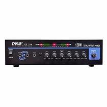 Amplificador Para Microfonos Pyle Home Pt210 120 Watts 70-v