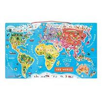 Juguete Mundial Puzzle Magnético Inglés Edición