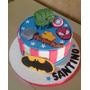 Tortas Decoradas Infantiles 3kg Vengadores Deco Incluida