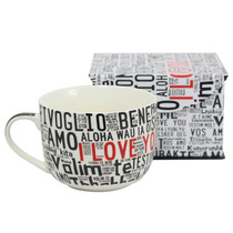 Caneca Sopa I Love You Idiomas