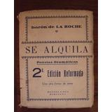 Libro Antiguo Se Alquila Por Barón De La Roche 1937