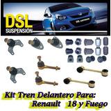 Kit Tren Delantero R18 + 4 Parrillas + 2 Semiejes